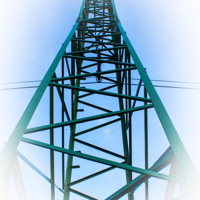 """Power line 2"" stock image"