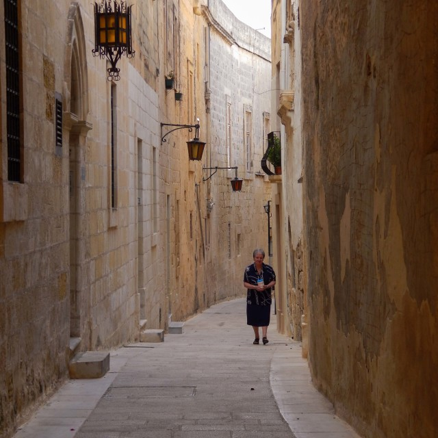 """Old narrow street"" stock image"