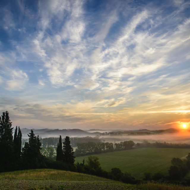"""Val d'Orcia"" stock image"