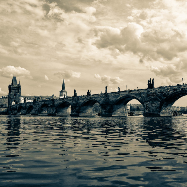 """Prague - Charles Bridge"" stock image"