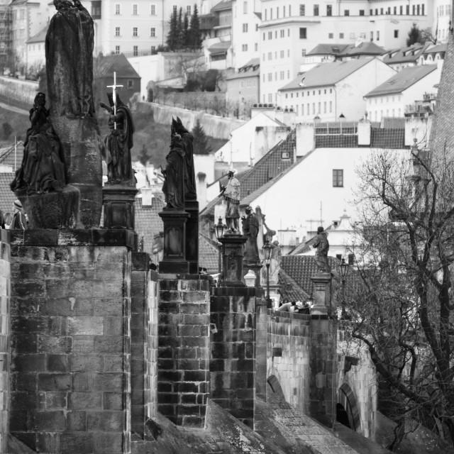 """Prague - Charles Bridge"" stock image"