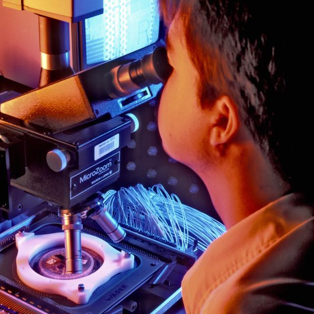 """Semi-Conductor research."" stock image"