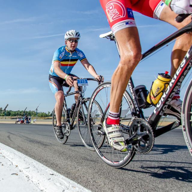 """Cyclist calve"" stock image"
