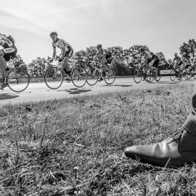 """Retro cycling race"" stock image"