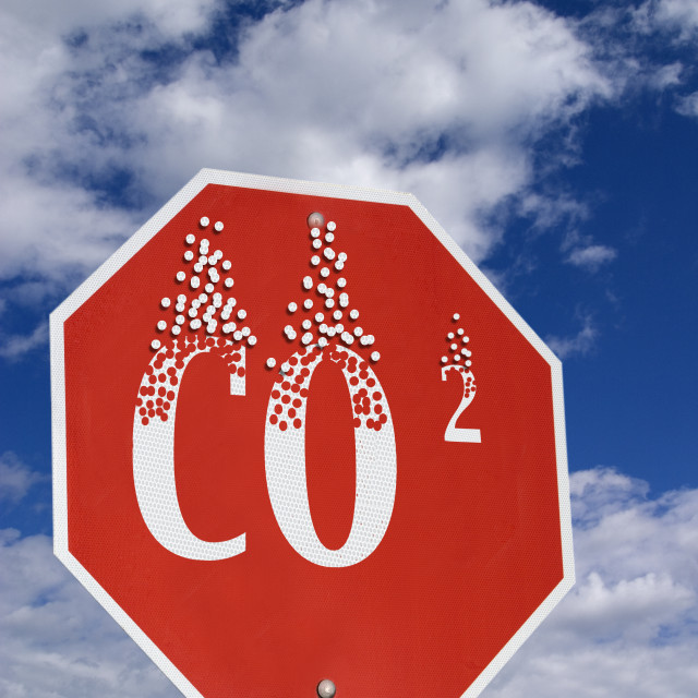 """""""Stop Carbon Footprint"""" stock image"""