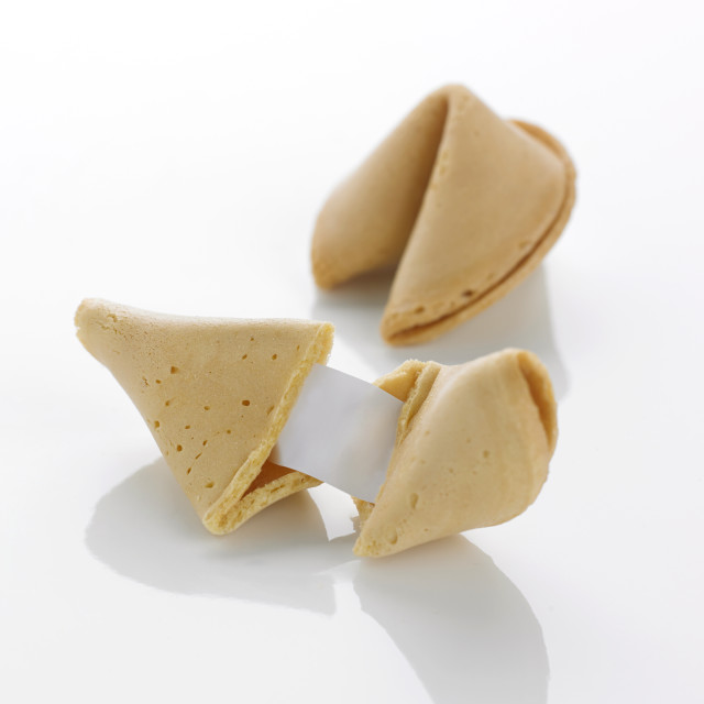 """""""A pair of fortune cookies"""" stock image"""