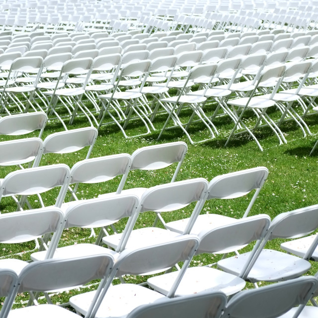 """White Chairs"" stock image"