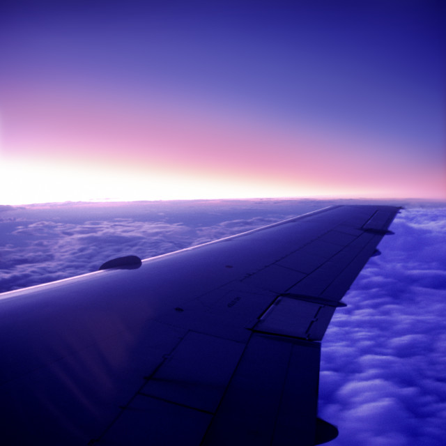 """Airplane wing"" stock image"
