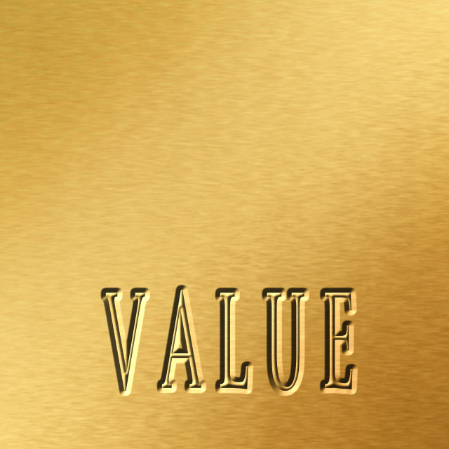 """Value"" stock image"