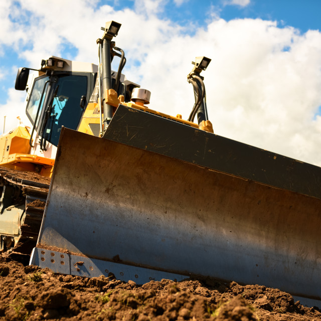 """Bulldozer at rest"" stock image"