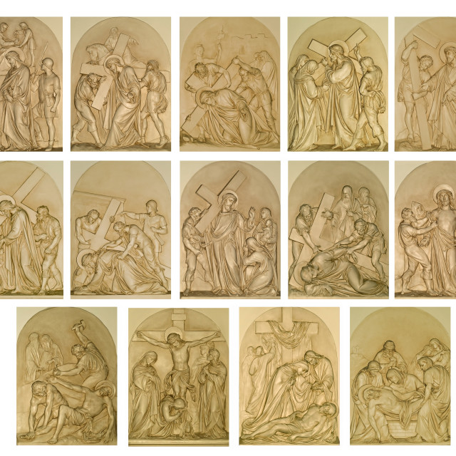 """the stations of the cross"" stock image"