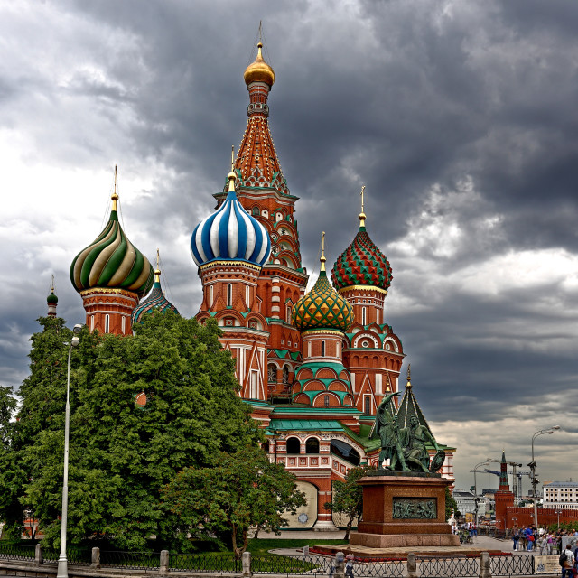 """""""Storm Clouds of Moscow"""" stock image"""