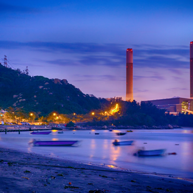 """""""Night of Petrochemical industry"""" stock image"""