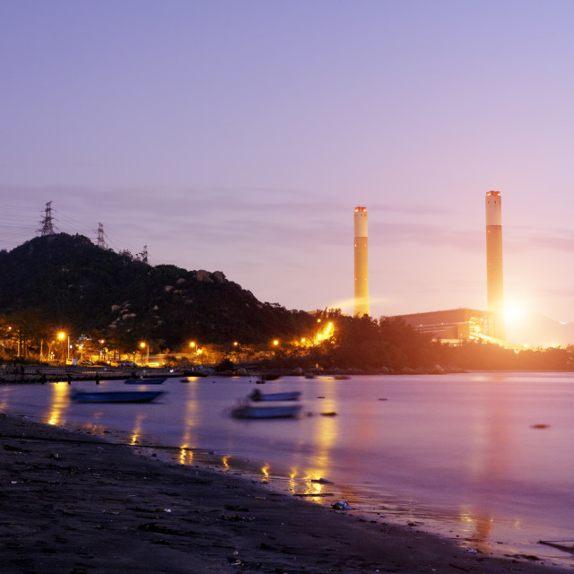 """coal power station"" stock image"