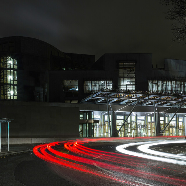 """Holyrood At Night"" stock image"