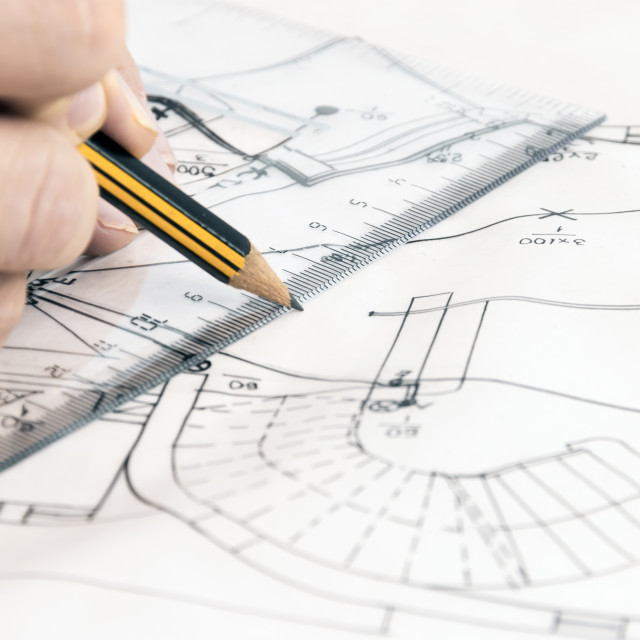 """""""New house sketch"""" stock image"""