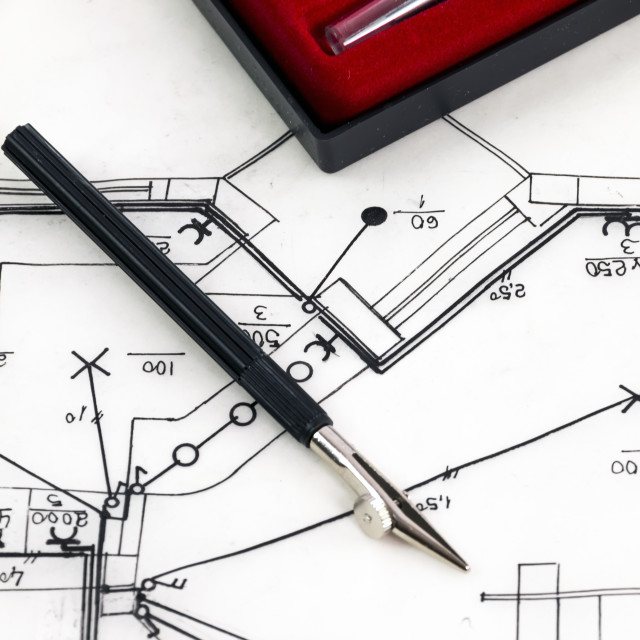 """""""New house sketch drawing"""" stock image"""