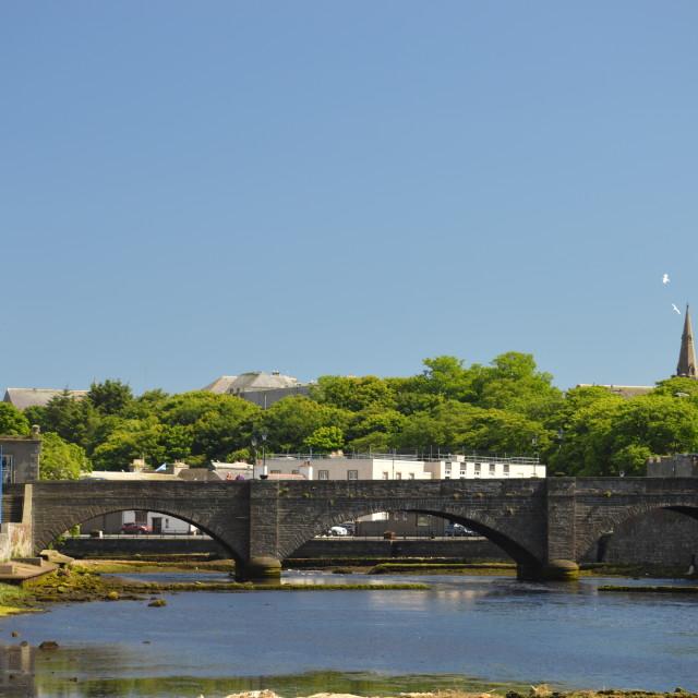 """""""Wick Bridge"""" stock image"""