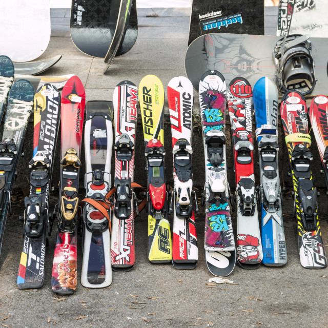 """Used ski"" stock image"