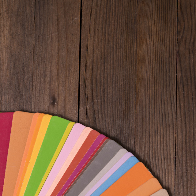 """""""Color Catalogue on wooden desk"""" stock image"""