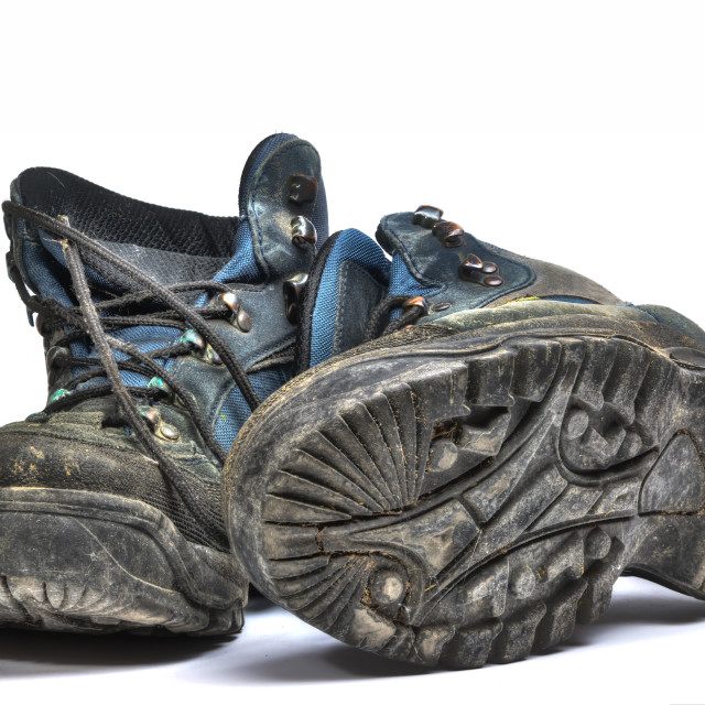 """""""Old shoes"""" stock image"""