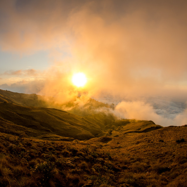"""""""Sunset at 2500m high"""" stock image"""
