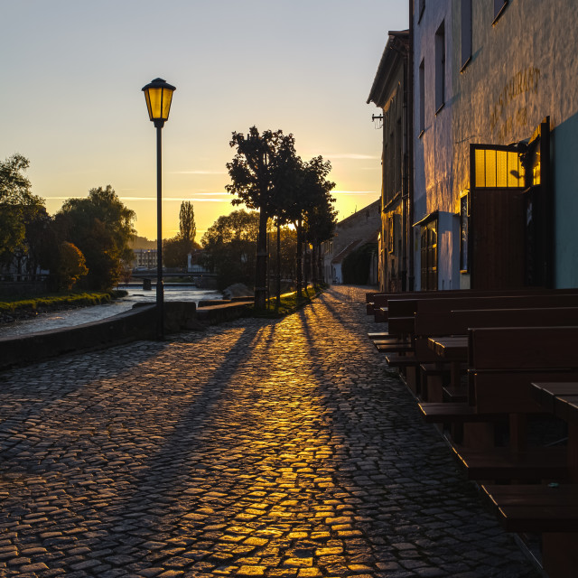 """Sunset in the Jewish Quarter"" stock image"