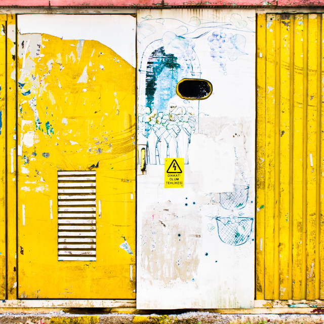 """Metal doors"" stock image"