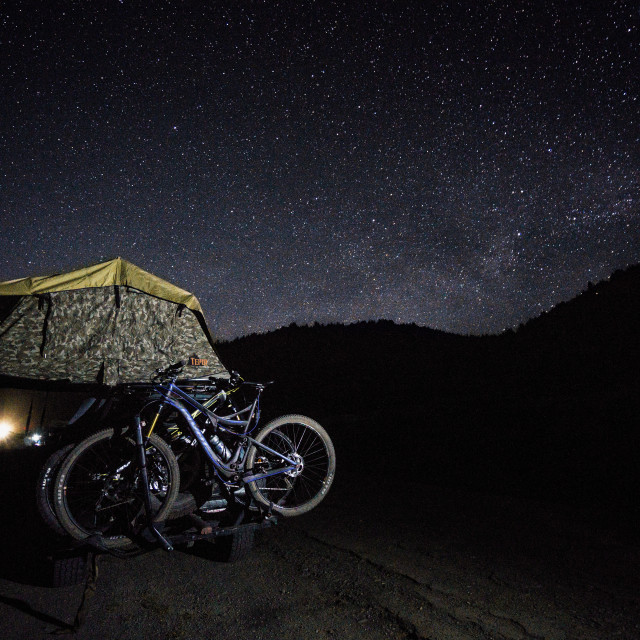 """Camping Out Under the Stars"" stock image"