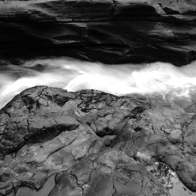 """""""Flow Beetwen the Rock"""" stock image"""