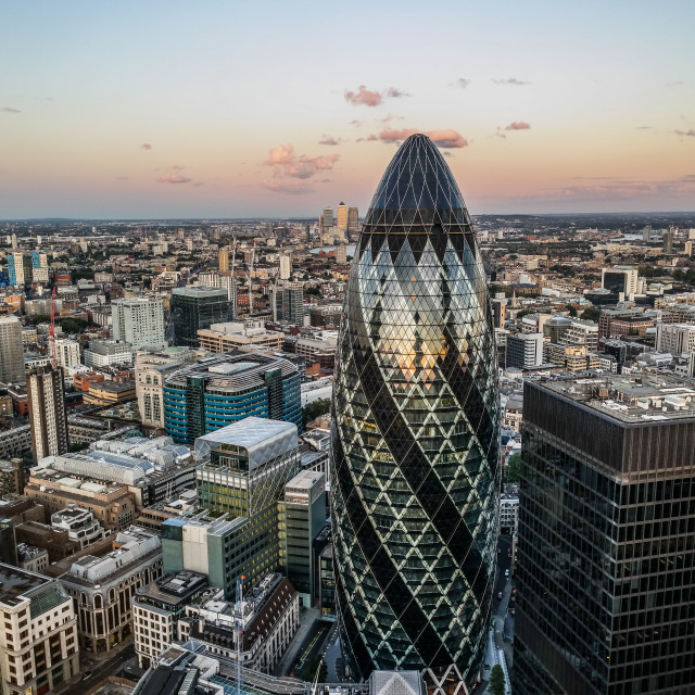 """gherkin in evening"" stock image"