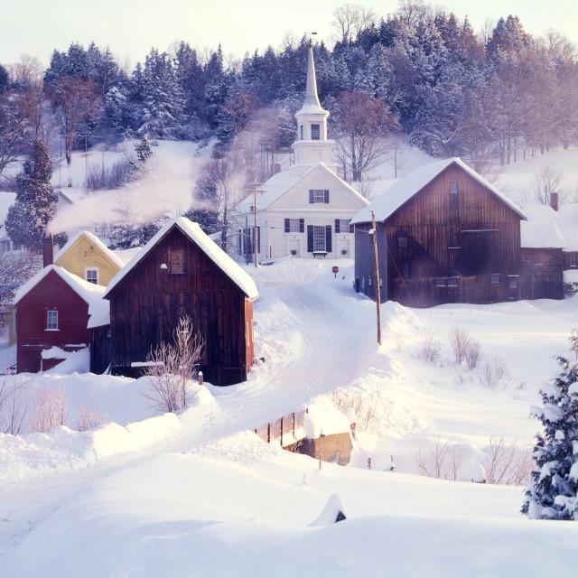 """Waits River, Vermont"" stock image"