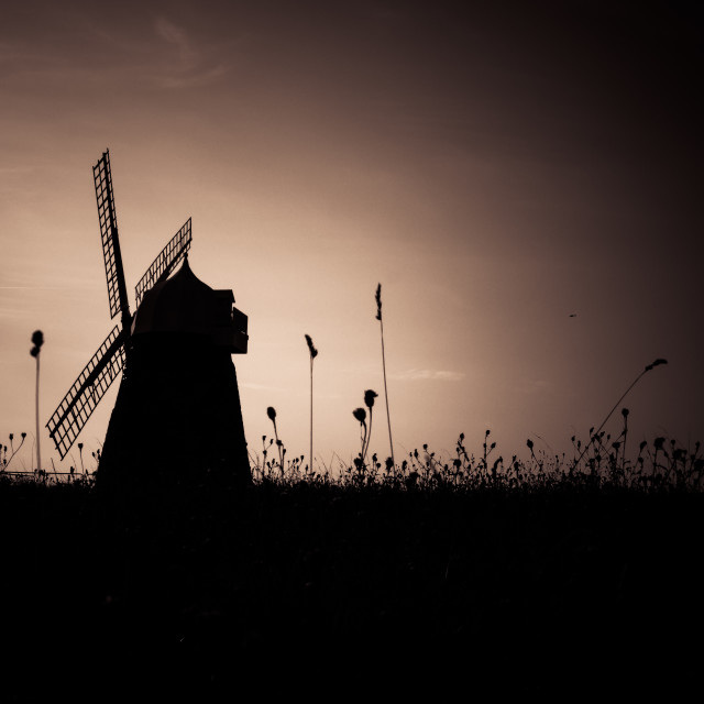 """Mill Silhouette"" stock image"