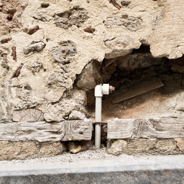 """Hole in wall"" stock image"