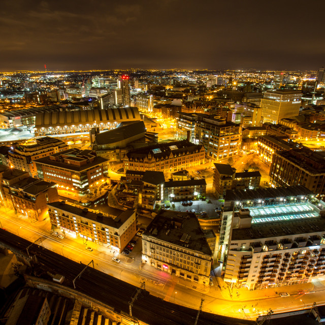 """""""Manchester at night 4"""" stock image"""