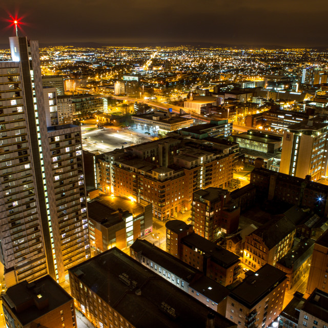 """""""Manchester at night 2"""" stock image"""