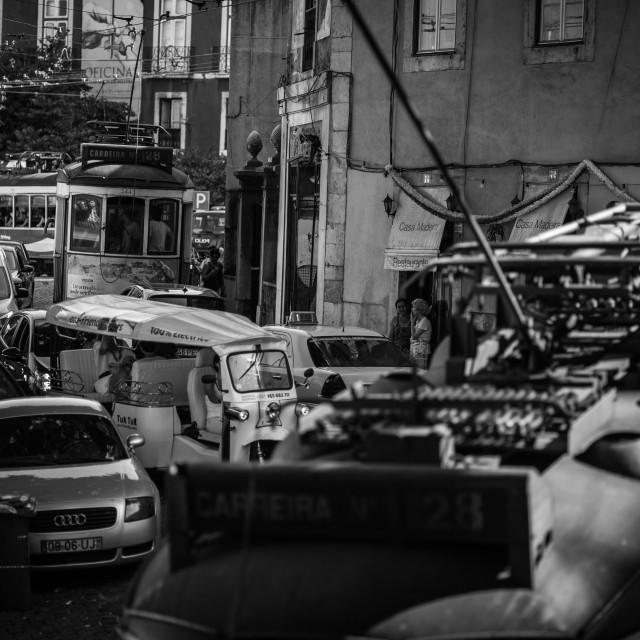 """Lisbon Traffic"" stock image"