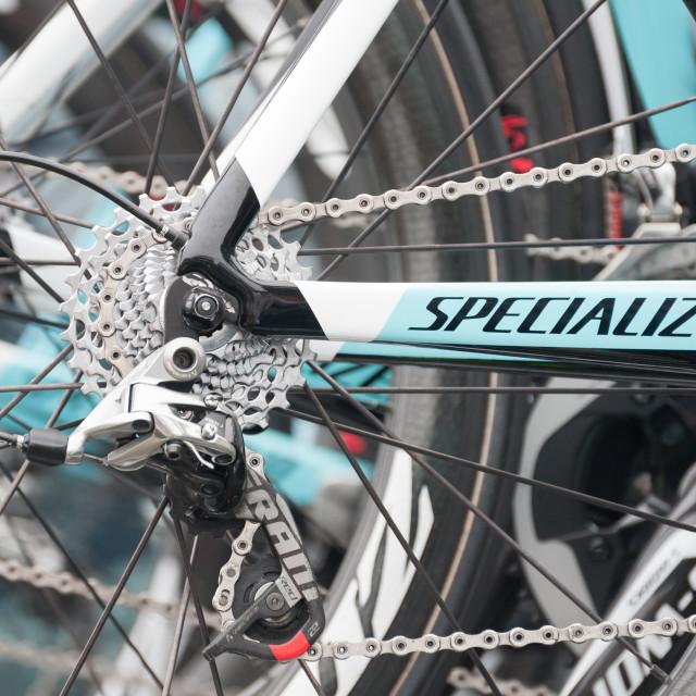 """Omega Pharma Quick-step bike"" stock image"