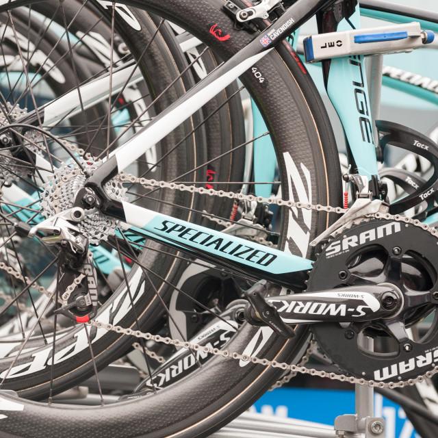 """Omega Pharma Quick-step bikes"" stock image"
