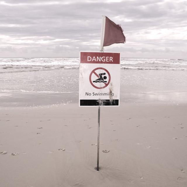 """Danger No Swimming"" stock image"
