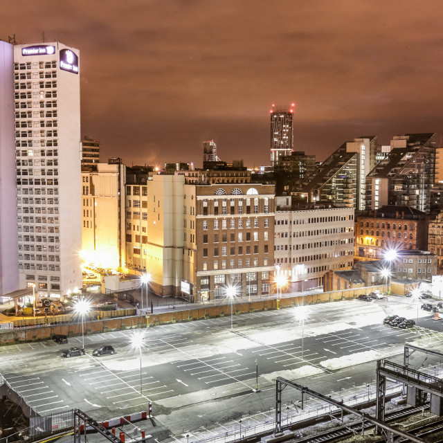 """""""Manchester city centre"""" stock image"""
