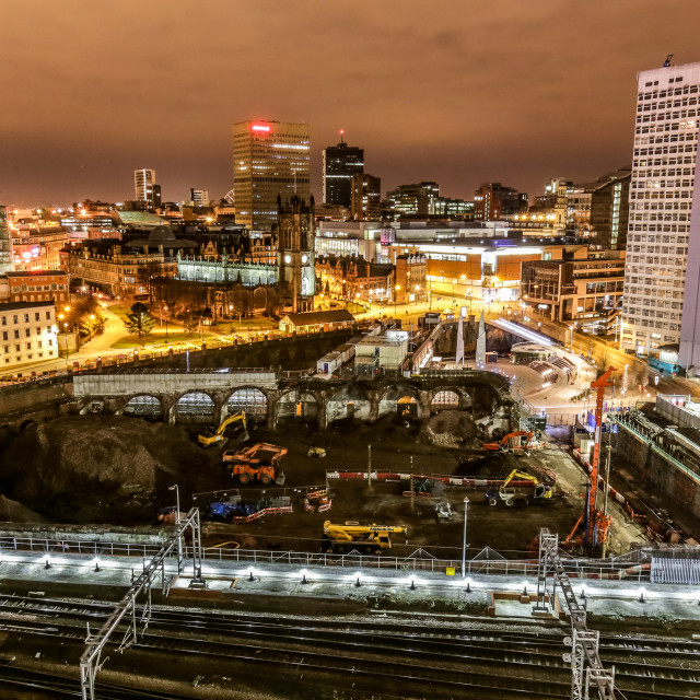 """Manchester Victoria from above"" stock image"