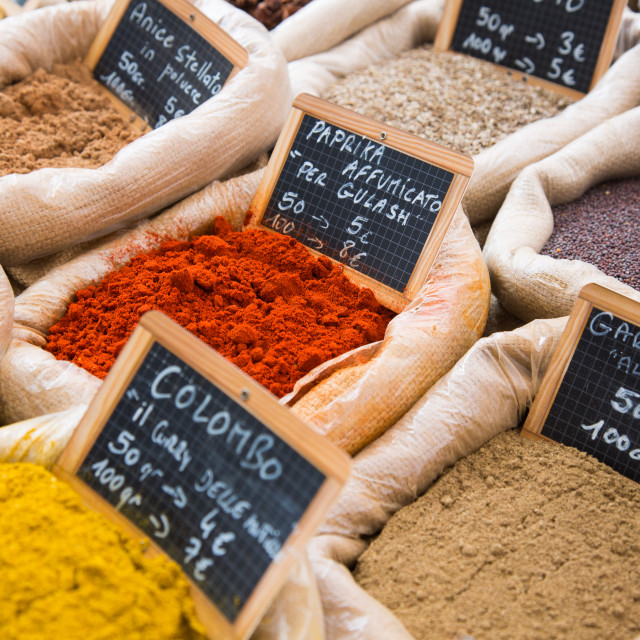 """""""variety of spices"""" stock image"""