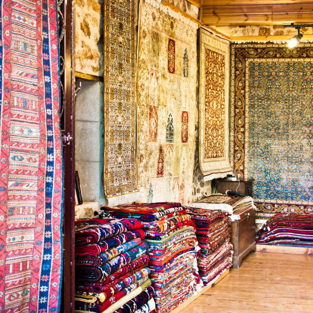 """Turkish carpet store"" stock image"