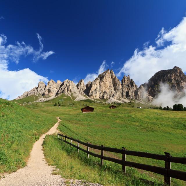 """""""pathway in Italian Dolomites"""" stock image"""