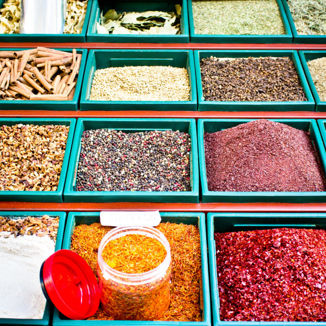 """Spice stall"" stock image"