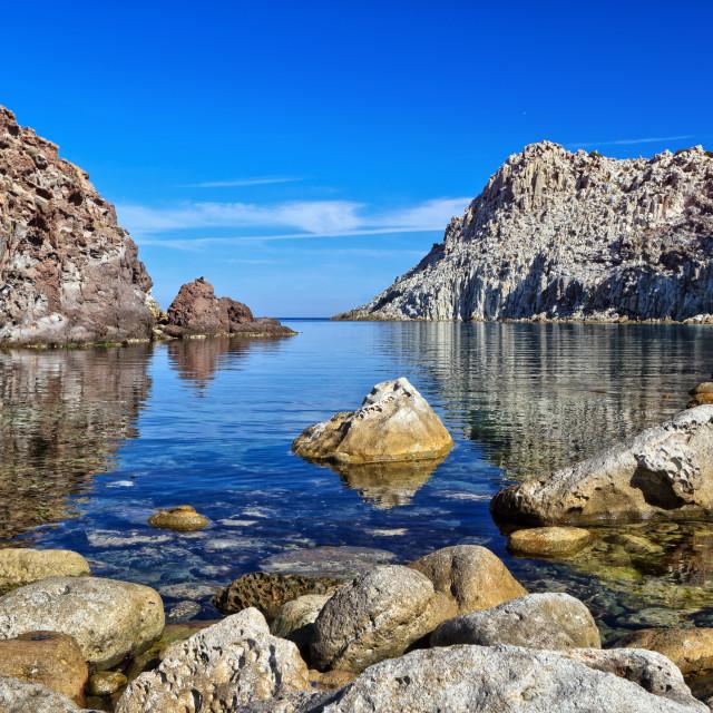 """""""Sardinia - Calafico bay"""" stock image"""