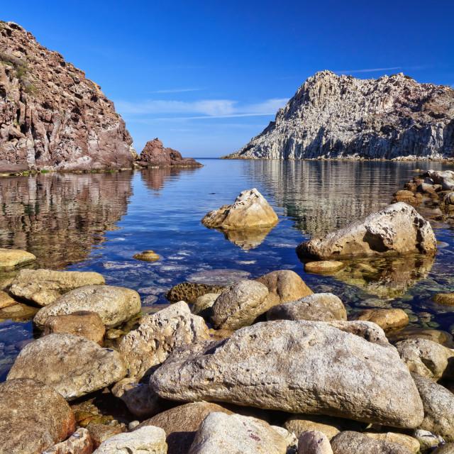"""""""Calafico Bay - Sardinia"""" stock image"""