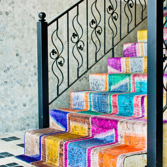 """Colorful stairs"" stock image"