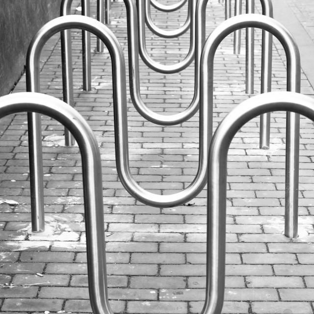"""Bike racks"" stock image"